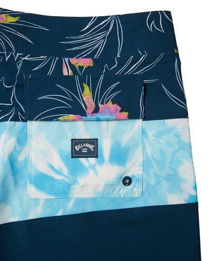 """6 Tribong Pro 19"""" - Bañador de surf de pantalón con estampado para Hombre Azul S1BS26BIP0 Billabong"""