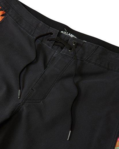 """4 D Bah Pro 19"""" - Bañador de surf de pantalón con estampado para Hombre Negro S1BS30BIP0 Billabong"""