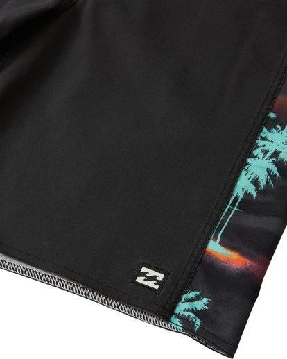 """5 D Bah Pro 19"""" - Bañador de surf de pantalón con estampado para Hombre Negro S1BS30BIP0 Billabong"""