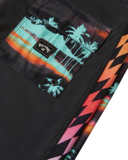 """6 D Bah Pro 19"""" - Bañador de surf de pantalón con estampado para Hombre Negro S1BS30BIP0 Billabong"""