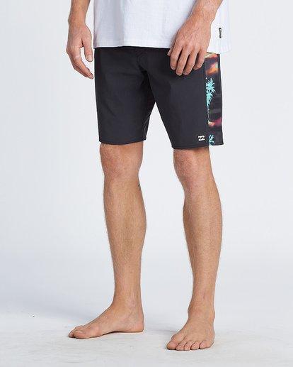 """9 D Bah Pro 19"""" - Bañador de surf de pantalón con estampado para Hombre Negro S1BS30BIP0 Billabong"""
