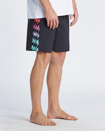 """10 D Bah Pro 19"""" - Bañador de surf de pantalón con estampado para Hombre Negro S1BS30BIP0 Billabong"""