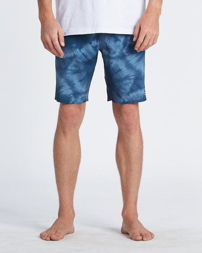 "7 D Bah Pro 19"" - Printed Board Shorts for Men Blue S1BS30BIP0 Billabong"