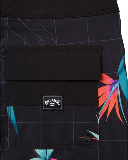 "7 Sundays Pro 19"" - Printed Board Shorts for Men Black S1BS31BIP0 Billabong"