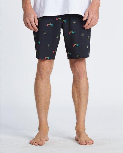 """4 Sundays Mini Pro 19"""" - Bañador de surf de pantalón con estampado para Hombre Negro S1BS34BIP0 Billabong"""
