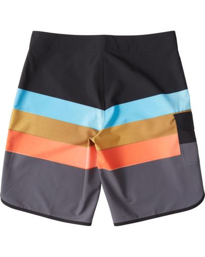 """7 73 Stripe Pro 20"""" - Bañador de surf de pantalón de rayas para Hombre Negro S1BS36BIP0 Billabong"""