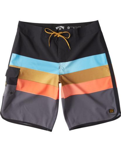 """6 73 Stripe Pro 20"""" - Bañador de surf de pantalón de rayas para Hombre Negro S1BS36BIP0 Billabong"""