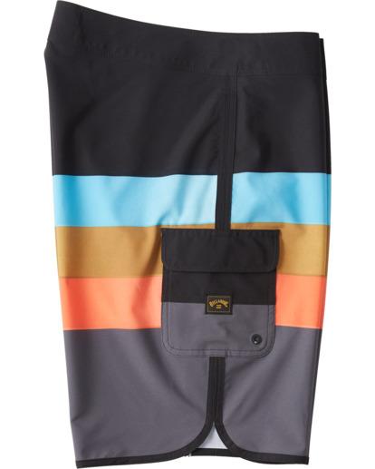 """9 73 Stripe Pro 20"""" - Bañador de surf de pantalón de rayas para Hombre Negro S1BS36BIP0 Billabong"""