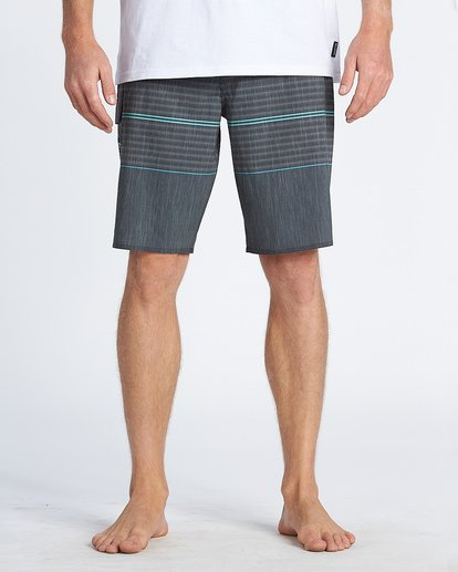 "9 All Day Pro 20"" - Striped Board Shorts for Men Grey S1BS46BIP0 Billabong"
