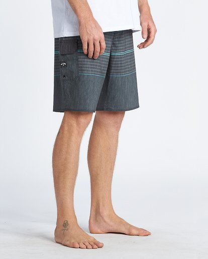 "12 All Day Pro 20"" - Striped Board Shorts for Men Grey S1BS46BIP0 Billabong"