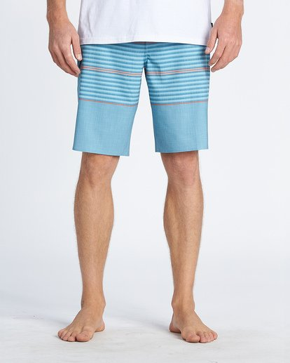 """4 All Day Pro 20"""" - Striped Board Shorts for Men Blue S1BS46BIP0 Billabong"""
