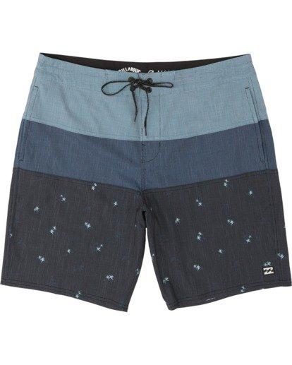 "2 Tribong 19"" - Colour-Blocked Board Shorts for Men Black S1BS49BIP0 Billabong"
