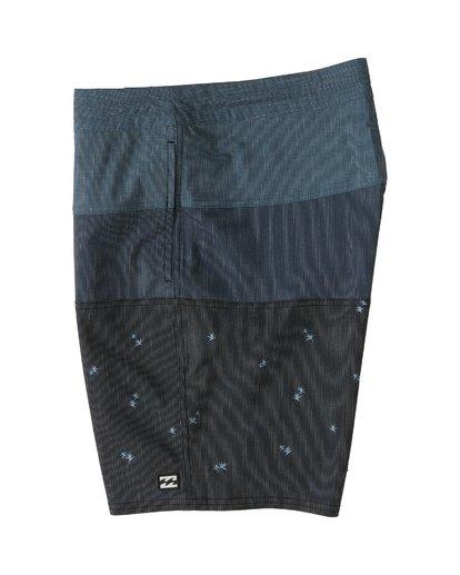 "4 Tribong 19"" - Colour-Blocked Board Shorts for Men Black S1BS49BIP0 Billabong"