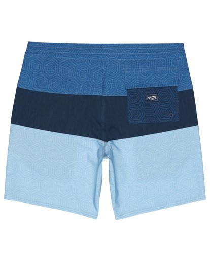 "3 Tribong 19"" - Colour-Blocked Board Shorts for Men Blue S1BS49BIP0 Billabong"