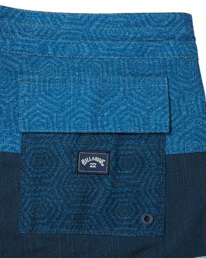 "8 Tribong 19"" - Colour-Blocked Board Shorts for Men Blue S1BS49BIP0 Billabong"