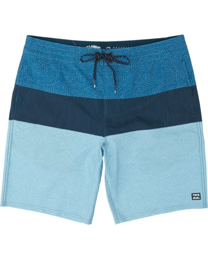 "2 Tribong 19"" - Colour-Blocked Board Shorts for Men Blue S1BS49BIP0 Billabong"