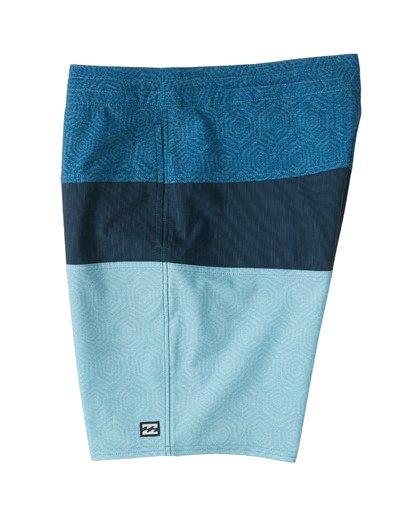 "4 Tribong 19"" - Colour-Blocked Board Shorts for Men Blue S1BS49BIP0 Billabong"