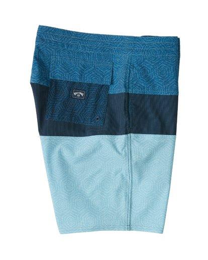 "5 Tribong 19"" - Colour-Blocked Board Shorts for Men Blue S1BS49BIP0 Billabong"