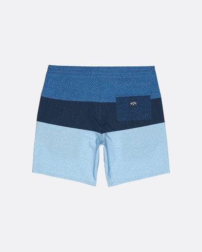 "1 Tribong 19"" - Colour-Blocked Board Shorts for Men Blue S1BS49BIP0 Billabong"