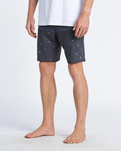"11 Tribong 19"" - Colour-Blocked Board Shorts for Men Black S1BS49BIP0 Billabong"