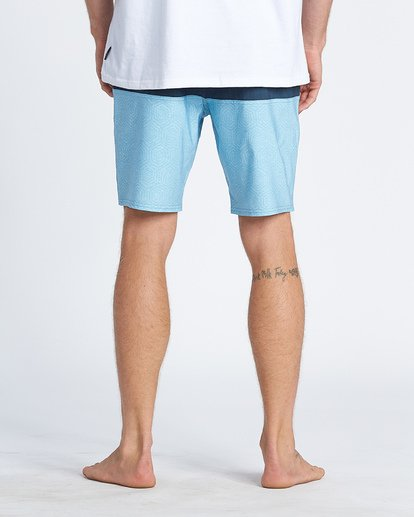 "10 Tribong 19"" - Colour-Blocked Board Shorts for Men Blue S1BS49BIP0 Billabong"