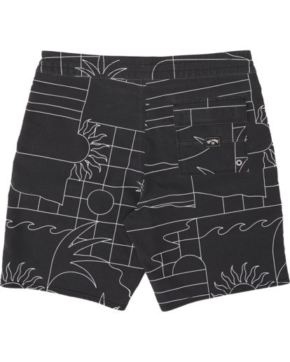 "3 Sundays 19"" - Printed Board Shorts for Men Black S1BS51BIP0 Billabong"