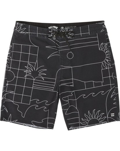"2 Sundays 19"" - Printed Board Shorts for Men Black S1BS51BIP0 Billabong"