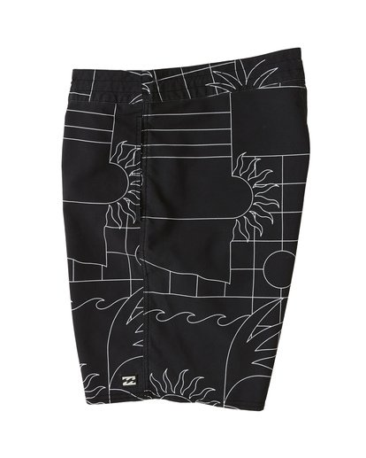 "4 Sundays 19"" - Printed Board Shorts for Men Black S1BS51BIP0 Billabong"