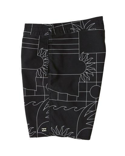 """4 Sundays 19"""" - Bañador de surf de pantalón con estampado para Hombre Negro S1BS51BIP0 Billabong"""