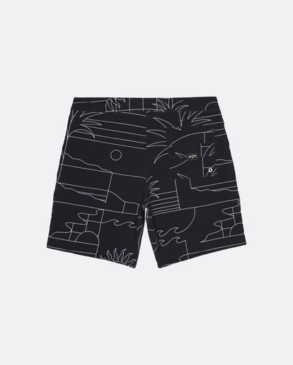 "0 Sundays 19"" - Printed Board Shorts for Men Black S1BS51BIP0 Billabong"