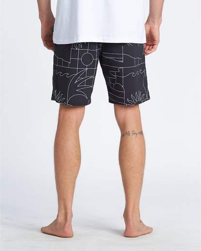 "10 Sundays 19"" - Printed Board Shorts for Men Black S1BS51BIP0 Billabong"