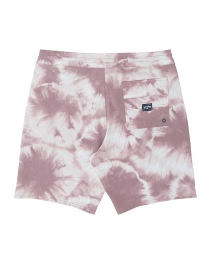 "3 All Day Riot 19"" - Tie-Dye Board Shorts for Men Purple S1BS53BIP0 Billabong"