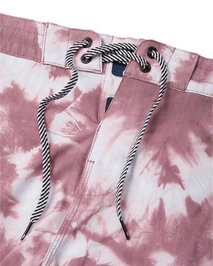 "6 All Day Riot 19"" - Tie-Dye Board Shorts for Men Purple S1BS53BIP0 Billabong"