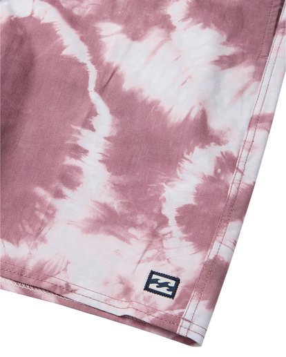 "7 All Day Riot 19"" - Tie-Dye Board Shorts for Men Purple S1BS53BIP0 Billabong"