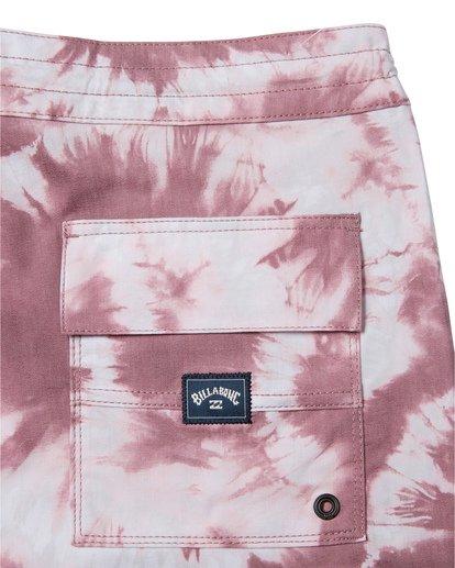 "8 All Day Riot 19"" - Tie-Dye Board Shorts for Men Purple S1BS53BIP0 Billabong"