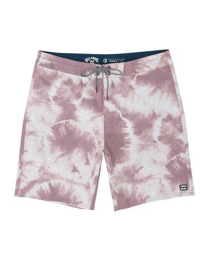 "2 All Day Riot 19"" - Tie-Dye Board Shorts for Men Purple S1BS53BIP0 Billabong"