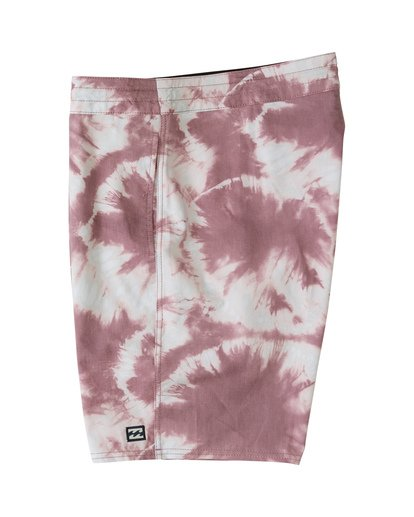 "4 All Day Riot 19"" - Tie-Dye Board Shorts for Men Purple S1BS53BIP0 Billabong"