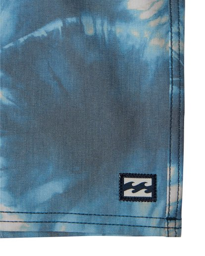 "7 All Day Riot 19"" - Tie-Dye Board Shorts for Men Purple S1BS53BIP0 Billabong"