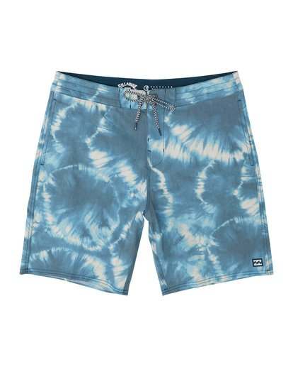 "2 All Day Riot 19"" - Tie-Dye Board Shorts for Men Purple S1BS53BIP0 Billabong"