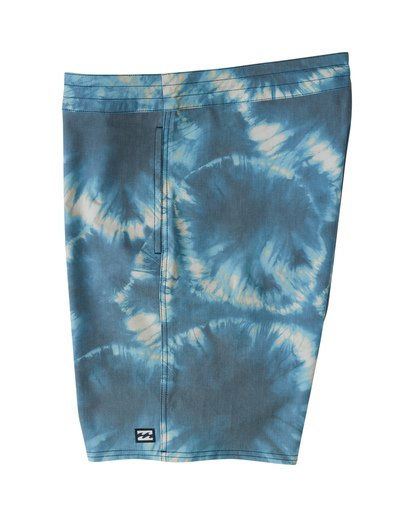 "4 All Day Riot 19"" - Tie-Dye Board Shorts for Men Purple S1BS53BIP0 Billabong"