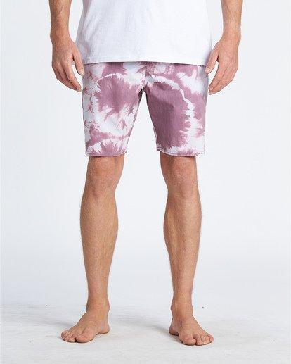 "9 All Day Riot 19"" - Tie-Dye Board Shorts for Men Purple S1BS53BIP0 Billabong"