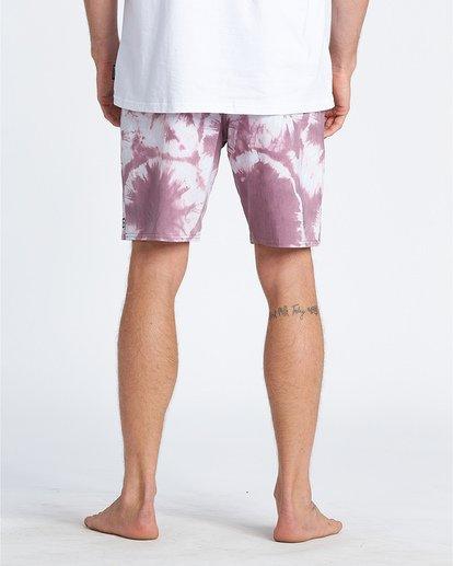"10 All Day Riot 19"" - Tie-Dye Board Shorts for Men Purple S1BS53BIP0 Billabong"