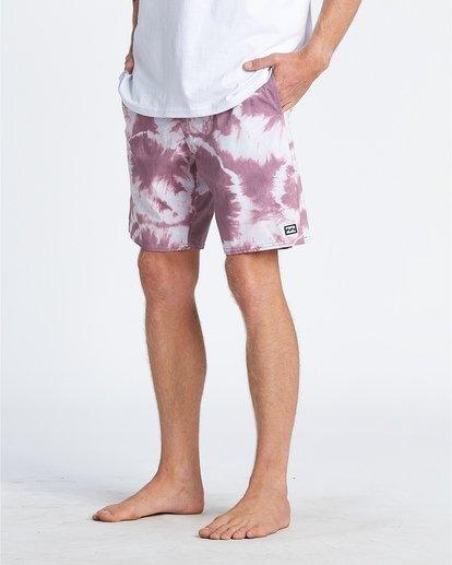 "11 All Day Riot 19"" - Tie-Dye Board Shorts for Men Purple S1BS53BIP0 Billabong"