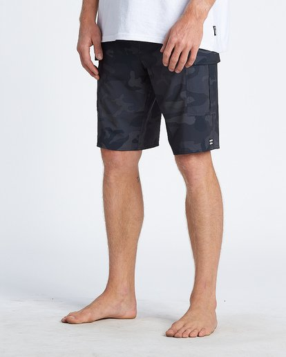 "6 Combat Bbo Pro 20"" - Board Shorts for Men Black S1BS71BIP0 Billabong"