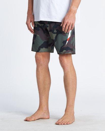"""4 AI Metallica 19"""" - Bañador de surf de pantalón de camuflaje para Hombre Negro S1BS81BIP0 Billabong"""