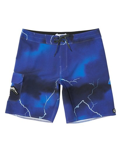 "0 Ride The Lightening 19"" - Printed Board Shorts for Men Purple S1BS82BIP0 Billabong"