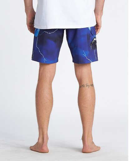 "5 Ride The Lightening 19"" - Printed Board Shorts for Men Purple S1BS82BIP0 Billabong"