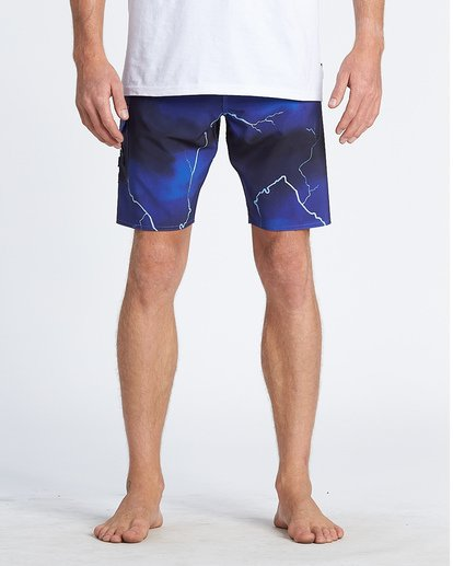 "4 Ride The Lightening 19"" - Printed Board Shorts for Men Purple S1BS82BIP0 Billabong"