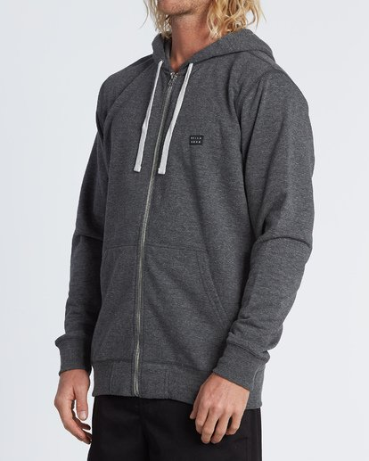 2 All Day Zip - Sweat à capuche zippé léger pour Homme Noir S1FL02BIP0 Billabong