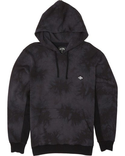 3 Wave Washed Pullover - Tie-Dye Hoodie Sweatshirt for Men Black S1FL07BIP0 Billabong